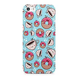 Loud Universe Bakery Donuts & Coffee Pattern Durable Sleek Wrap Around iPhone SE Case - Blue