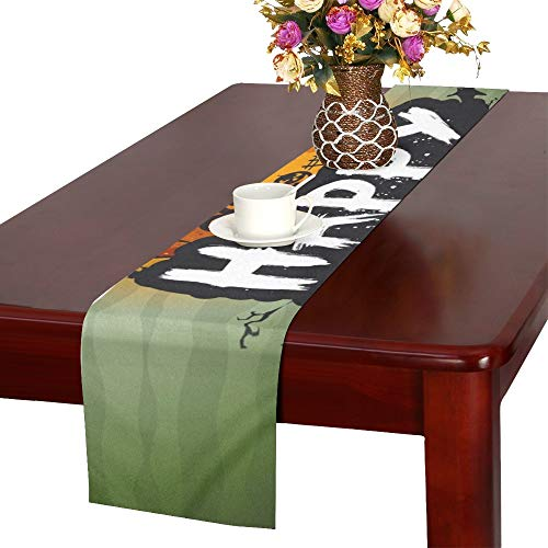 Halloween Night Sign Table Runner, Kitchen Dining Table Runner 16 X 72 Inch for Dinner Parties, Events, Decor ()