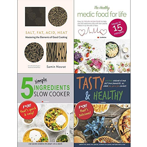 Book cover from Salt fat acid heat [hardcover], medic food for life, 5 simple ingredients slow cooker, tasty and healthy 4 books collection set by Samin Nosrat