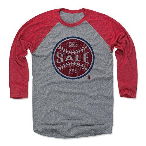 500 LEVEL Chris Sale Baseball Tee Shirt XXX-Large Red/Heather Gray - Boston Baseball Raglan Shirt - Chris Sale Ball R