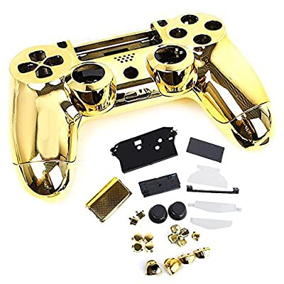 SQDeal Housing Game Front Back Controller Shell Polished Glossy Case Cover Protective Skin Replacement Part for Sony PlayStation 4 PS4 Controllers - Gold from SQdeal
