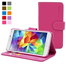 Galaxy S5 Case, Snugg™ - Leather Wallet Case with Lifetime Guarantee (Hot Pink) for Samsung Galaxy S5