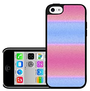 Pink and Blue Stripes Hard Snap on Case (iPhone 5c)