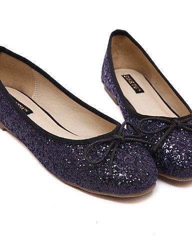 PDX/ Damenschuhe - Ballerinas - Lässig - Kunstleder - Flacher Absatz - Rundeschuh - Lila / Silber , purple-us6.5-7 / eu37 / uk4.5-5 / cn37 , purple-us6.5-7 / eu37 / uk4.5-5 / cn37