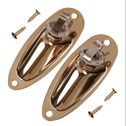 2pcs Recessed Jack Plate Gold for Electric Strat -
