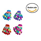 Gentlecarin Children's Magic Stretch Gloves,Kids Mittens Windproof Thicken Kit Ski Gloves Boys Girls Outdoor Winter Warm,Randomly