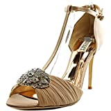 Badgley Mischka Women's Darling Dress Sandal, Latte, 8.5 M US