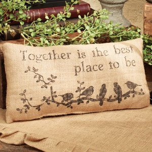 - Small Burlap Together Country Pillow