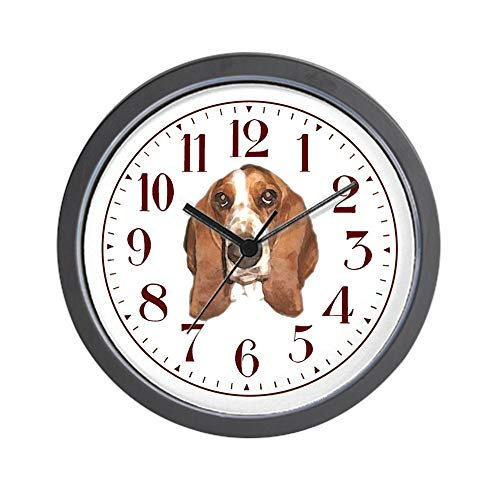 CafePress Bassett Hound Clock, Bassett Hound Unique Decorative 10