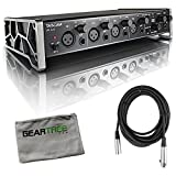 Tascam US-4X4 4 in/4 out USB 2.0 Audio/MIDI Interface with Geartree Cloth and XL