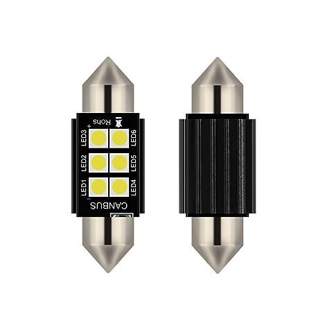 Bombillas LED Canbus de 5 W de 31 mm, 36 mm, 39 mm,