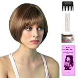 Erin by Amore, Wig Galaxy Hair Loss Booklet, 2oz Travel Size Wig Shampoo, Wig Cap, & Wide Tooth Comb (Bundle - 5 Items), Color Chosen: Spring Honey