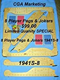 PEGS & JOKERS 1941s8 PLAYER GAME,