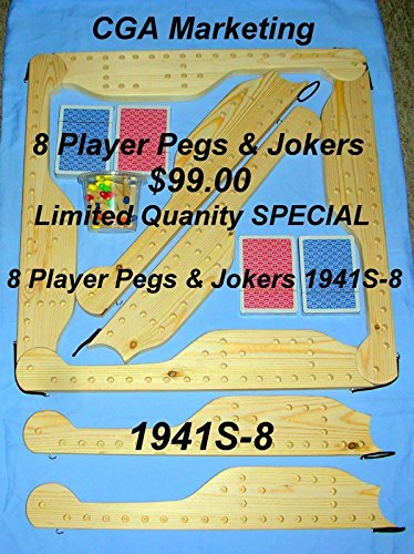 PEGS & JOKERS 1941s8 PLAYER GAME, by CGA Marketing