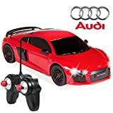 Best Choice Products 1 24 Scale Officially Licensed RC Audi R8 Luxury Sport Remote Control Car w Lights - Red
