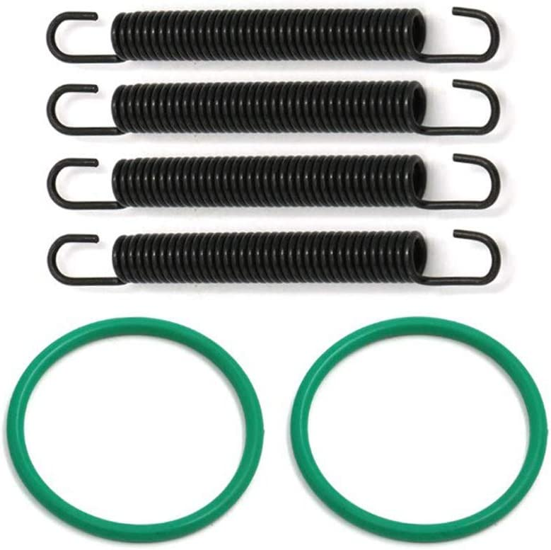 Cosmoska Exhaust Pipe Spring Kit with O-rings for Yamaha Banshee 350 1987-2006 YFZ350 Exhaust Kit