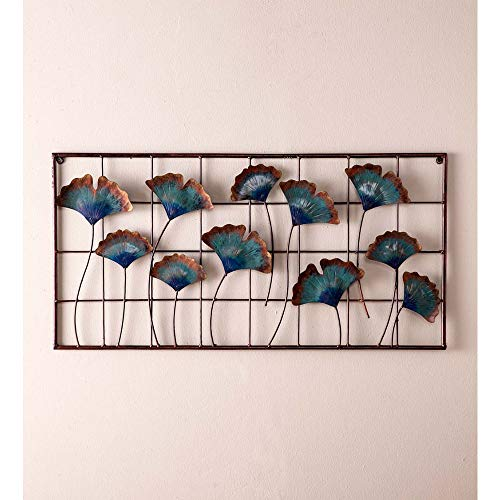 Vivaterra Recycled Metal Gingko Leaf Wall Décor - 31.5 L x 16 H x 1.25 D