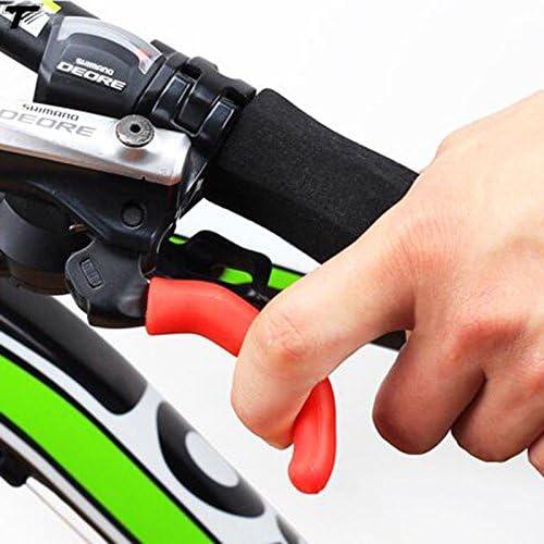 Forfar 1 Pair Bike Brake Sleeve Silicone Handle Bar Protective Cover Anti-Skid Mountain Road Bicycle Brake Lever Handle Protector
