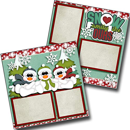 (Snow Family Like Ours - Premade Scrapbook Pages - EZ Layout 3662)