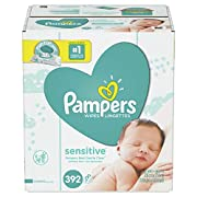 Pampers Sensitive Water Baby Wipes 7X Pop-Top Packs, 392 Count