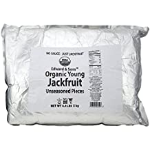 Edward & Sons Organic Vegan Meatless Alternative Young Jackfruit Unseasoned Pieces 4.4 Pound