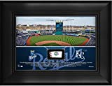 """Kansas City Royals Framed 5"""" x 7"""" Stadium Collage with a Piece of Game-Used Baseball - MLB Team Plaques and Collages"""