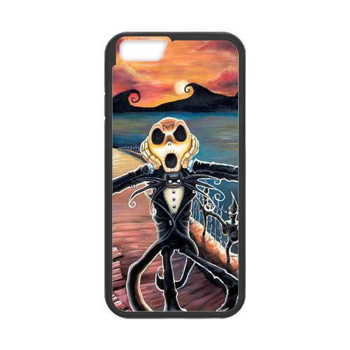 Fayruz- Personalized Protective Hard Textured Rubber Coated Cell Phone Case Cover Compatible with iPhone 6 & iPhone 6S - The Nightmare Before Christmas Cartoon F-i5G1157