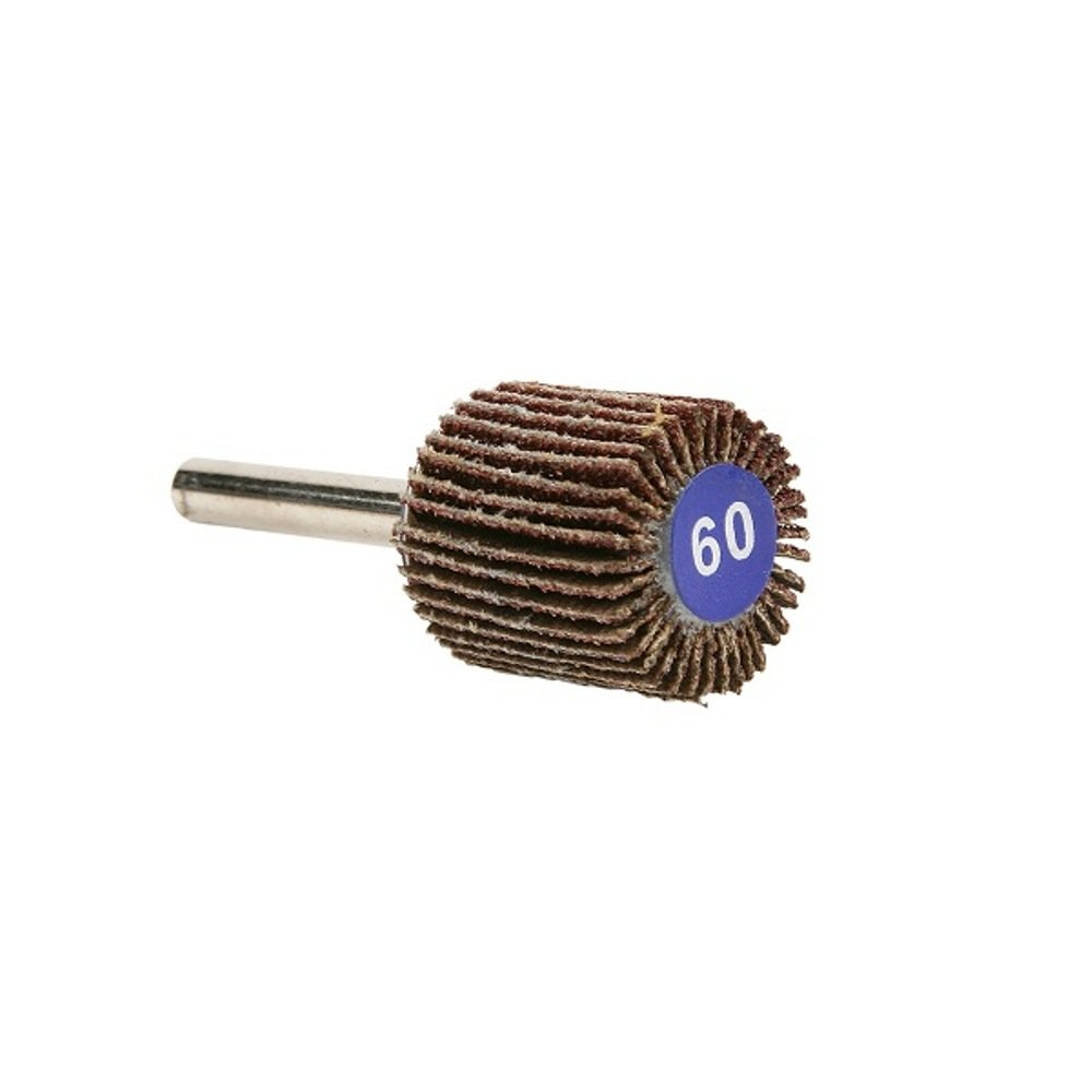 Round Shank Aluminum Oxide 1 Diameter x 1 Width The Lincoln Electric Company 1 Diameter x 1 Width 60 Grit Pack of 3 Lincoln Electric KH150 Mounted Abrasive Flap Wheel