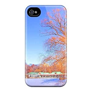 Jeffrehing Case Cover For Iphone 4/4s - Retailer Packaging Restaurant On A Lake In Winter Protective Case