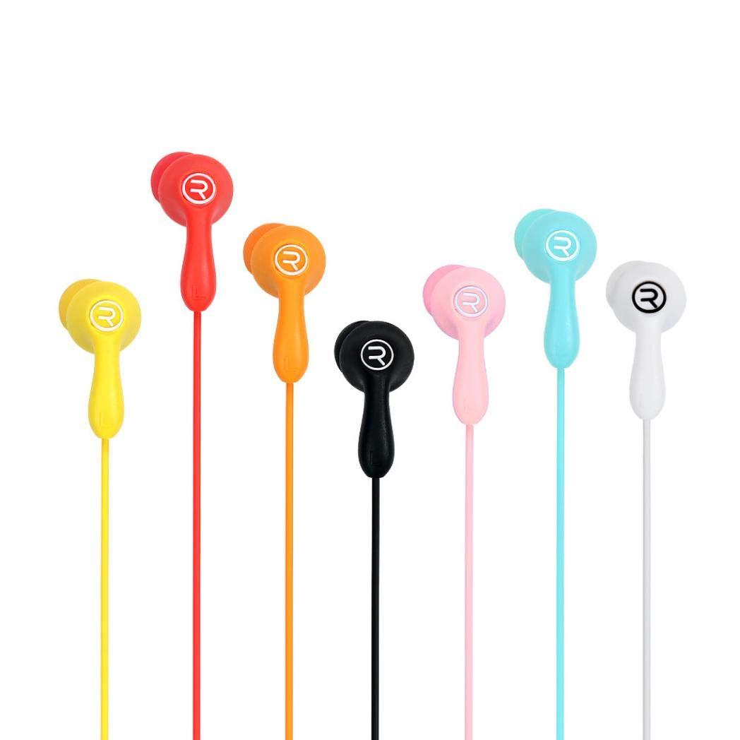 Liquidación ¡Venta caliente! Auriculares Cebbay Fashion RM-505 Universal Candy en la oreja con micrófono multicolor (Rojo)