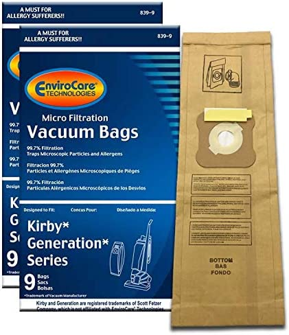 18 F Style Microfiltration Vacuum Bags for Kirby Sentria I /& II G10D free belt