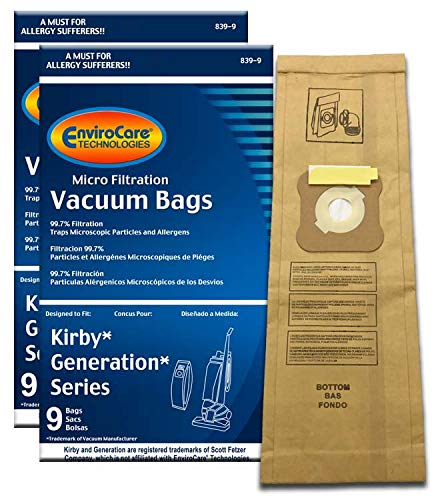 EnviroCare Replacement Micro Filtration Vacuum Bags for Kirby Generation Series 1, 2 3, 4, 5, and 6. 18 Pack
