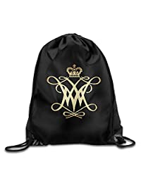 William And Mary College Drawstring Backpack Bag White