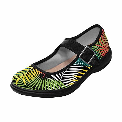 Interestprint Womens Komfort Mary Jane Lägenheter Tillfälliga Promenadskor Multi 11