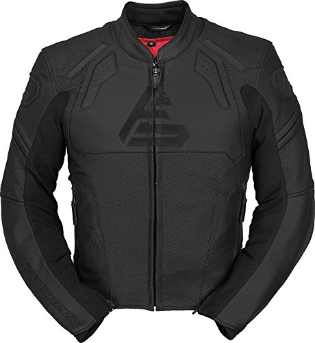 Fieldsheer Shadow Mens Leather Street Racing Motorcycle Jacket 48 Black