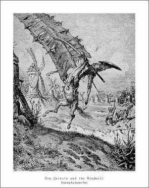Gustave Dore - Don Quixote and the Windmill
