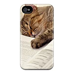 Special Design Back Sleepy Cat Phone Case Cover For Iphone 4/4s