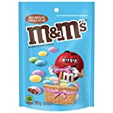 m&m's milk chocolate spring pastel chocolate easter candy pieces, 200 grams