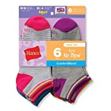 Product review for Hanes Girls` Fashion ComfortBlend® No Show Socks 6-Pack