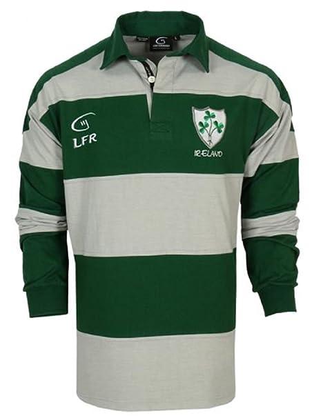 Malham LFR Irish - Camiseta de Rugby de Manga Larga, diseño de ...