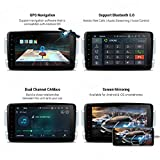 XTRONS Android 10.0 Car Stereo Radio GPS Navigation 8 Inch Touch Screen Slim Design Head Unit Supports WiFi Bluetooth Backup Camera DVR OBD2 TPMS for Mercedes Benz C-Class W203 G-W463 CLK