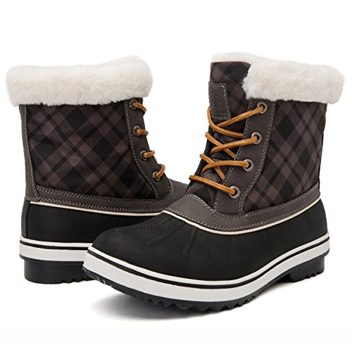 Global Win GLOBALWIN Womens 1632 Black Grey Snow Boots 1727black/Grey rrC7BkS13