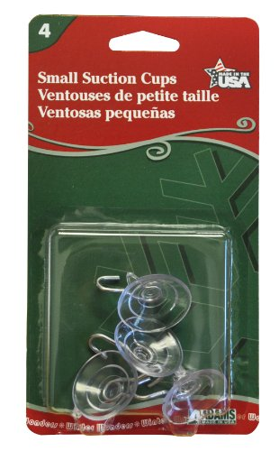 Adams Christmas 7500-77-1043 Small Suction Cup, 4-Pack (Stained Small Stick Glass)