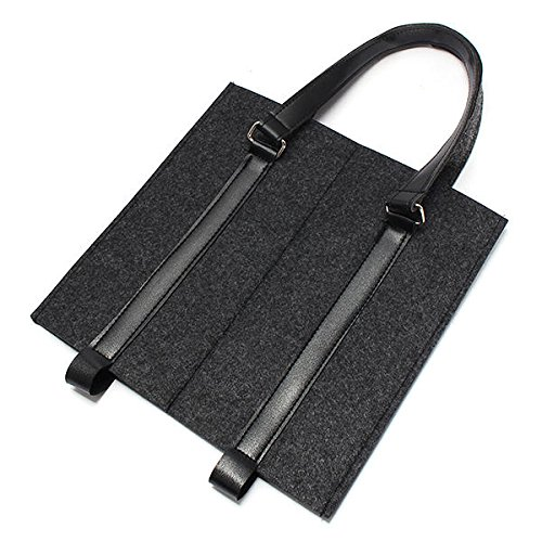 Bar Tools & Accessories Wine Gift Boxes - KC-BC02 Wool Felt Two Water Wine Bottle Carrier Bag Champagne Travel Tote Bag Holder Organizer - Dark Grey - 1 x KCASA KC-BC02 Wine Bottle Carrier Bag by Unknown