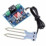 WHDTS 12V Soil Moisture Sensor Humidity Controller with Digital Display Automatic Watering System Module