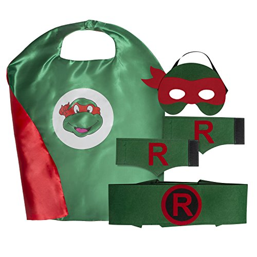 Girls Superhero Costume Set: (5 Masks, Belts, Capes, and 5 sets of Bracelets)