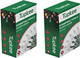 Christmas Random Twinkle Shimmering Lights - Indoor Outdoor – 20.5 Feet Light String, 100 Clear Bulbs - Christmas Tree Holiday Decor Sparkling Twinkling Christmas Lights - 2 Pack (Total 200 Lights)
