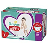 Diapers Size 5, 90 Count - Pampers Cruisers 360° Fit Disposable Baby Diapers, Enormous Pack
