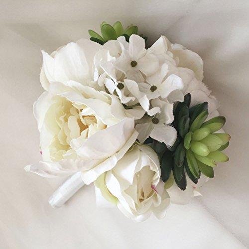 Lily-Garden-Mix-Peony-Hydrangea-Succulents-Plant-Arrangement-Bouquet-with-Ribbon