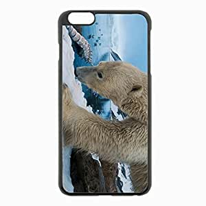 iPhone 6 Plus Black Hardshell Case 5.5inch - polar snow rocks Desin Images Protector Back Cover